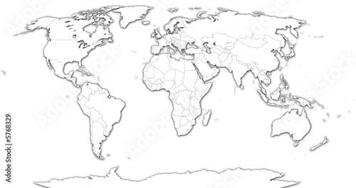 Photo Stands World Map Carte du monde