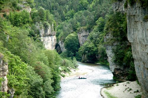 Obraz na plátně Tarn Gorges - Canyon near La Malene