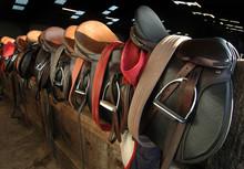 Saddles In The Barn