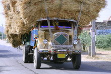 Overloaded Truck On Highway, R...