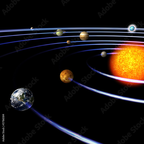 Foto-Rollo - schematical image of the solar system..With Clipping Path (von Ralf Kraft)