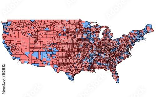 Valokuva  USA Map of 2000 Election