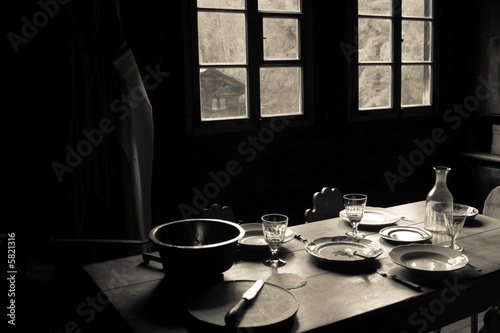 Fotografía  Window Rustic Table Setting