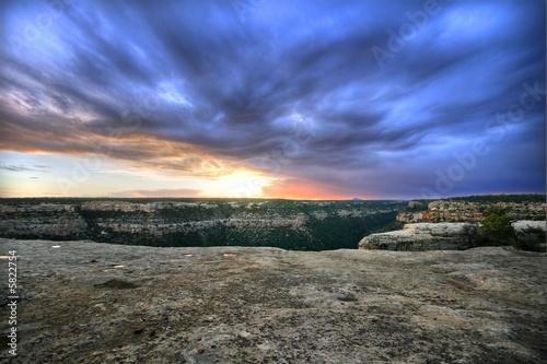 Fotografie, Obraz  Beautiful sunset over Mesa Verde, Colorado