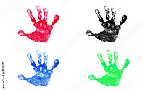 Fotografia, Obraz  Four Hand Prints