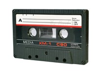 Old Audio Cassette Isolated On...