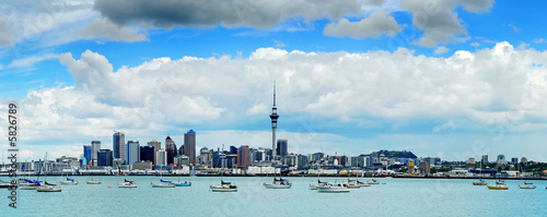 The beautiful Auckland skyline Wallpaper Mural
