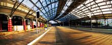 An Empty European Train Station