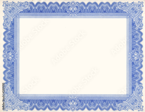 Photo  Old Certificate Border