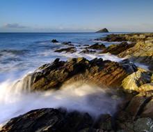 Beautiful Dawn Light At Wembury Beach South West Devon
