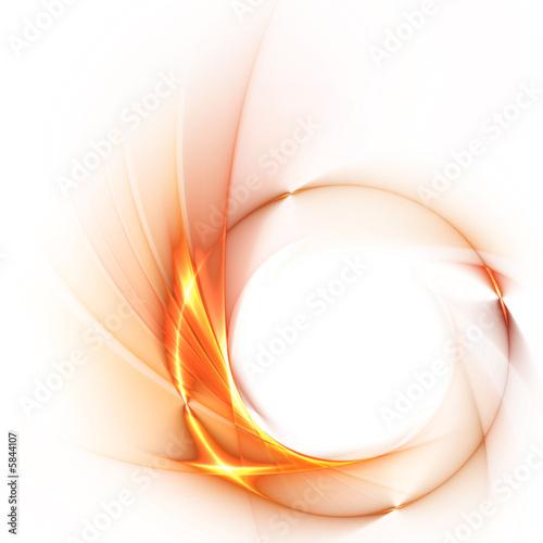 Spiral abstrakter Hintergrund mit Feuerring
