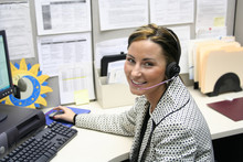 Beautiful Female Call Center O...