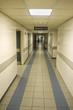 Empty hospital corridor, entrance to the emergency room