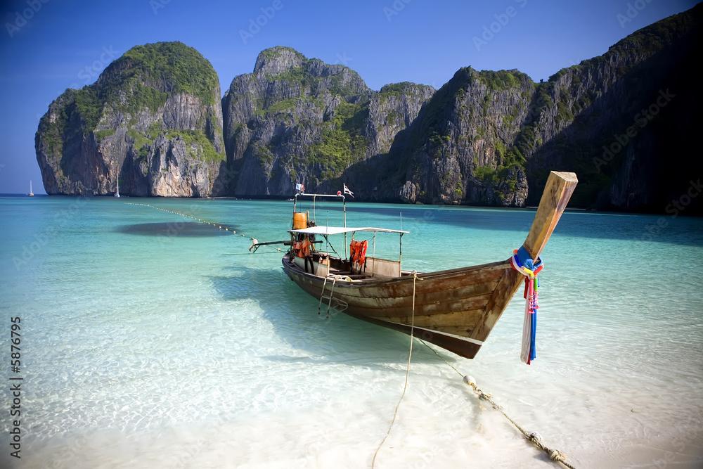 Foto-Schiebegardine Komplettsystem -  Maya Bay, Koh Phi Phi Ley, Thailand.