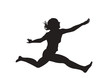jump girl vector