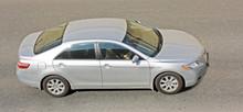 Silver Sedan Car On Road Of My...