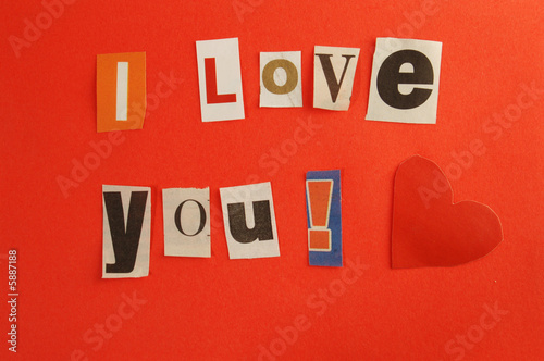 Photo Love message from mysterious adorer