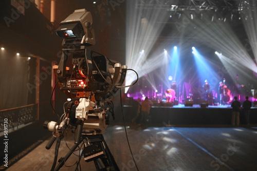 Fotografia, Obraz  camera film cadreur musique concert clip
