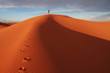 canvas print picture Man in desert