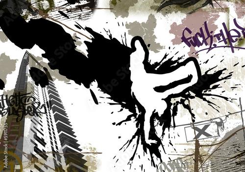 tapeta-flyer-breakdance-urban-art