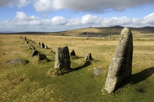 Ancient Stone Row At Merrivale...