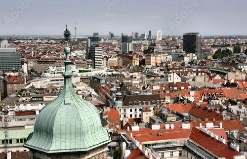 Photo Vienna aerial view - old town