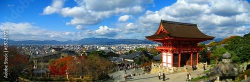 Poster de jardin Kyoto Panoramic of Kiyomizu Temple in Kyoto