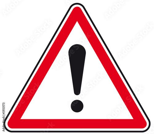 Panneau Attention danger ! Wallpaper Mural