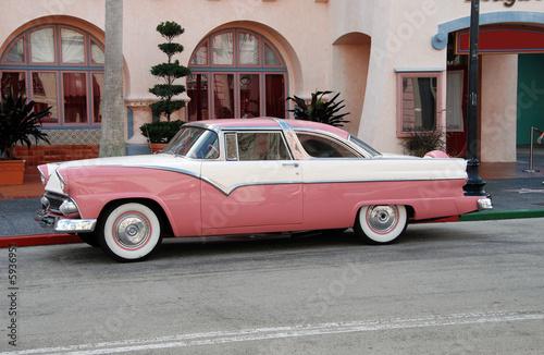 Leinwand Poster Retro pink automobile