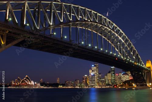 Keuken foto achterwand Bruggen Sydney Harbor Bridge at night