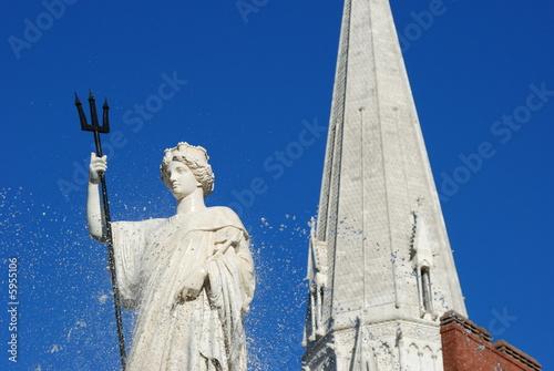 Poster Fontaine fontaine place royale à Nantes