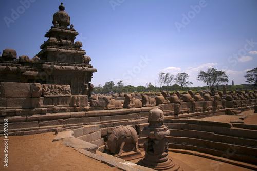 Hindu Temple, Mahabalipuram, India Fototapet
