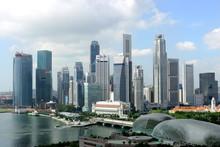 Skyline Of Singapore Business ...
