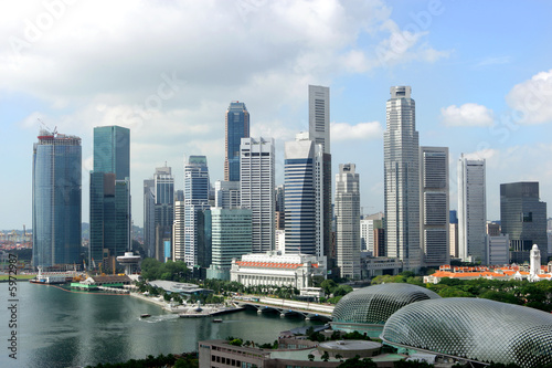 Skyline of Singapore business district, Singapore Wallpaper Mural
