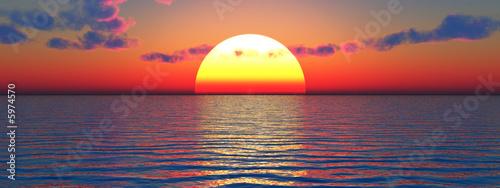 Poster Mer coucher du soleil Beautiful sea and sky at sunset - digital artwork