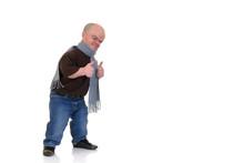 Little Man, Dwarf In Leisure Clothing, Studio Shot,