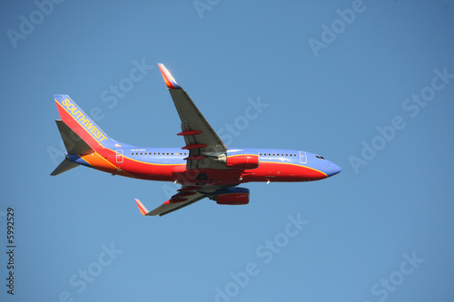 Tela  Southwest airlines 737 taking off