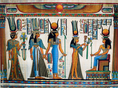 In de dag Egypte Egyptian papyrus