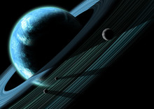 A Gas Giant Planet With Planetary Rings