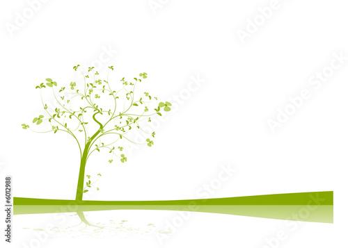 Valokuva  vecteur série - arbre vectoriel au printemps