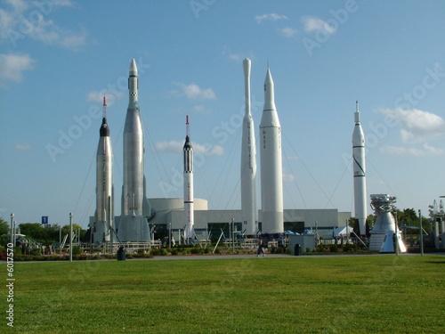 Aluminium Prints Nasa Rocket Garden
