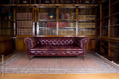 Retro leather couch - Buy this stock photo and explore ...