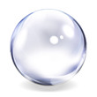 Leinwanddruck Bild - Transparent Glass Sphere