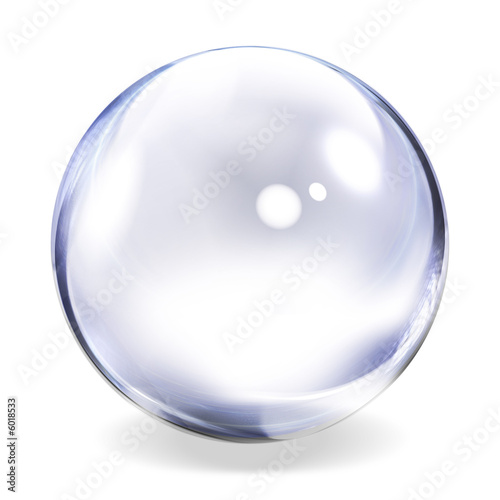 Fotobehang Bol Transparent Glass Sphere