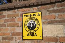 A Neighbourhood Watch Sign.