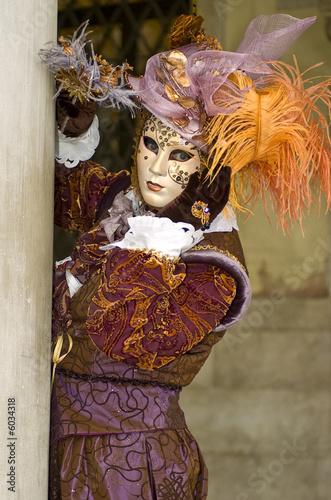Poster Inspiration painterly orange carnival mask