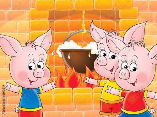 Foto-Stoff - funny piglets (von Alexey Bannykh)