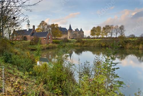 Poster Channel Castle Muiderslot, The Netherlands