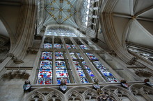 Stained Glass Window At York Minster, UK