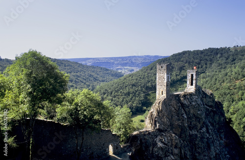Aluminium Prints Brazil A castle on hill peyrusse le roc lot et garonne france